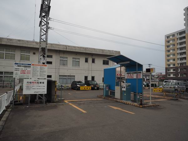 一ノ関駅西口の奥の駐車場