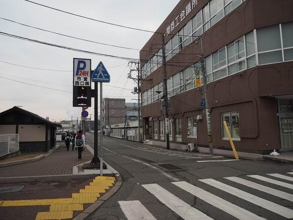 一ノ関駅西口南駐車場方向