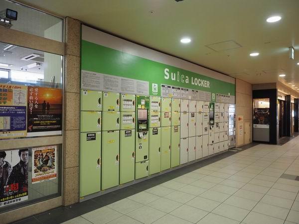 仙台駅コインロッカー二階奥の写真