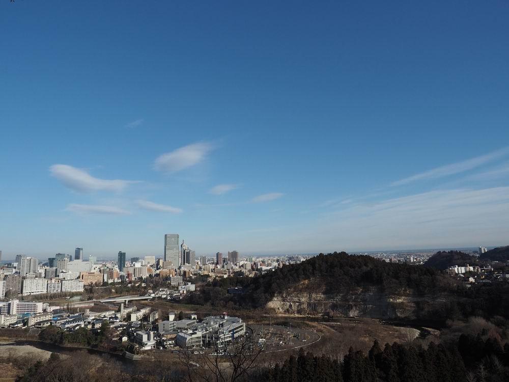 仙台城から見た仙台市