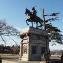 仙台城伊達政宗銅像写真