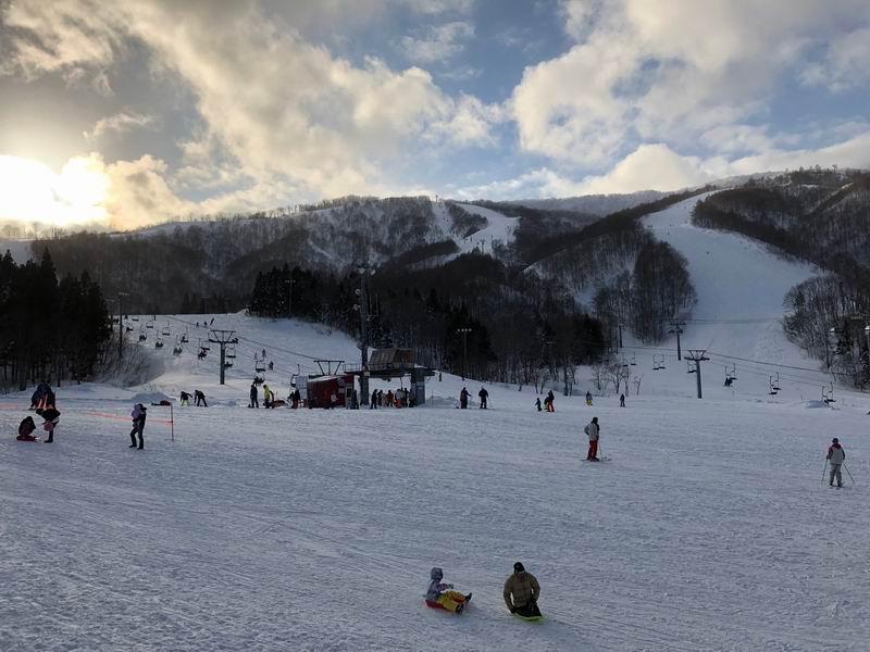 夏油高原スキー場の風景をアイフォンXで撮影