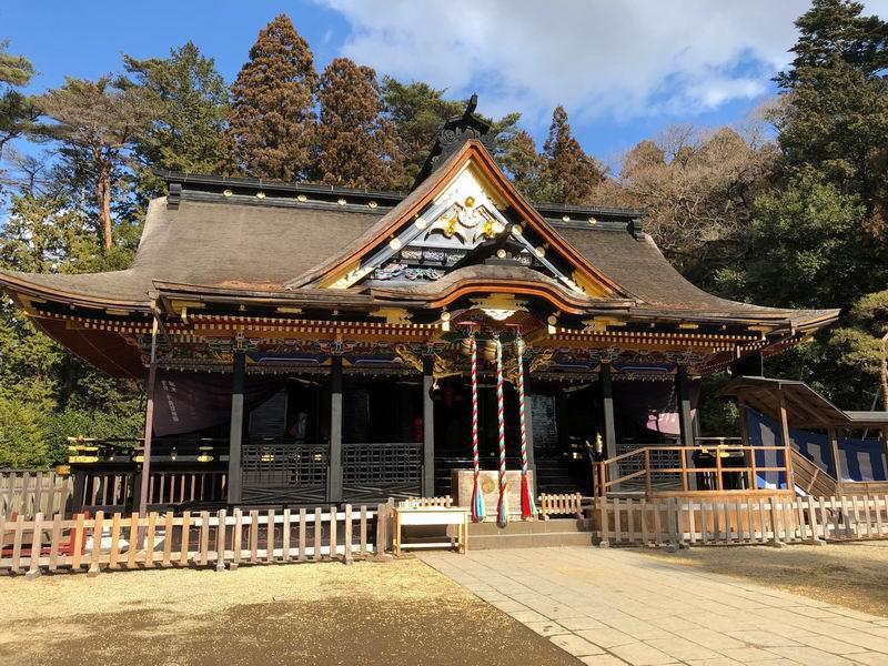大崎八幡宮をアイフォンXで撮影