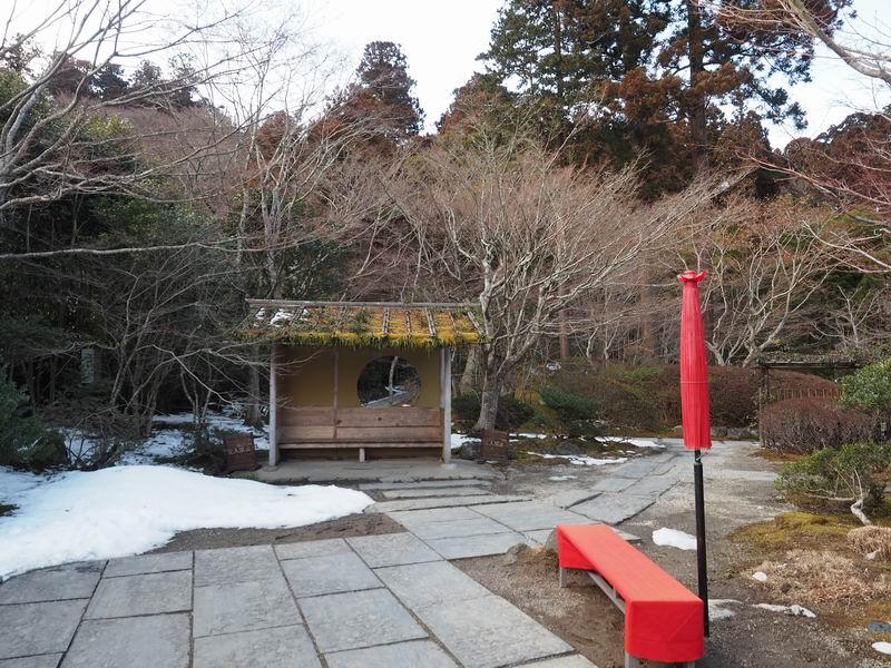 円通院の冬の風景