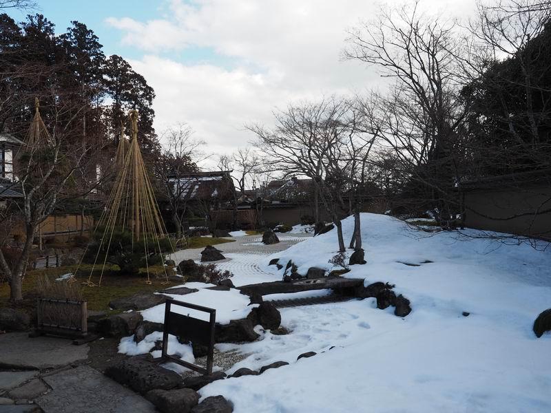 円通院の冬の景色と雪景色