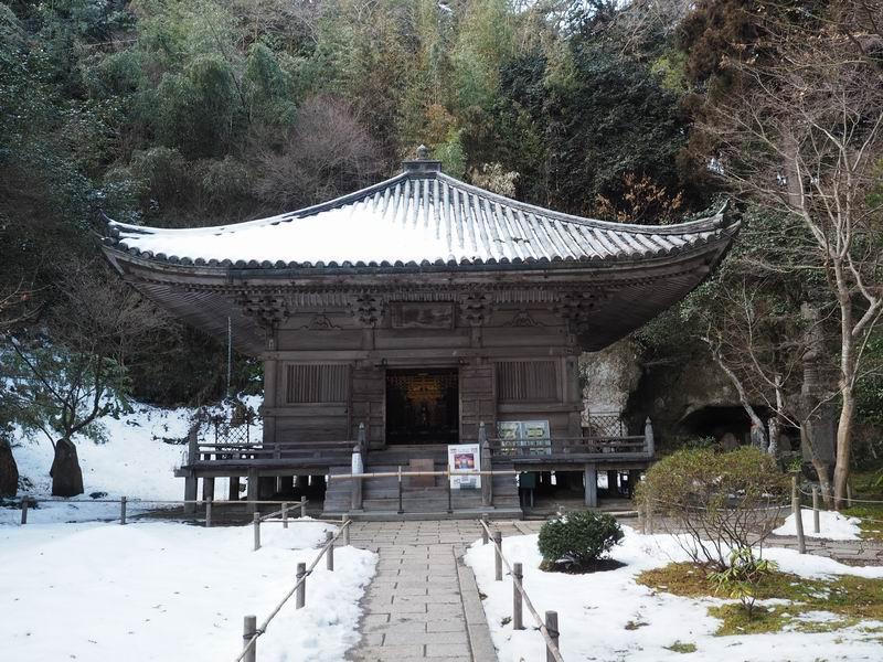 三慧殿の冬の風景写真