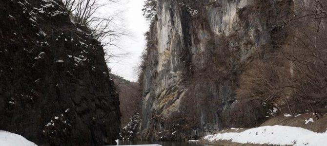猊鼻渓の舟下りの写真