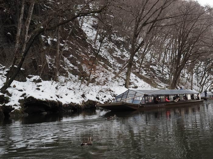 猊鼻渓の舟下りの写真2