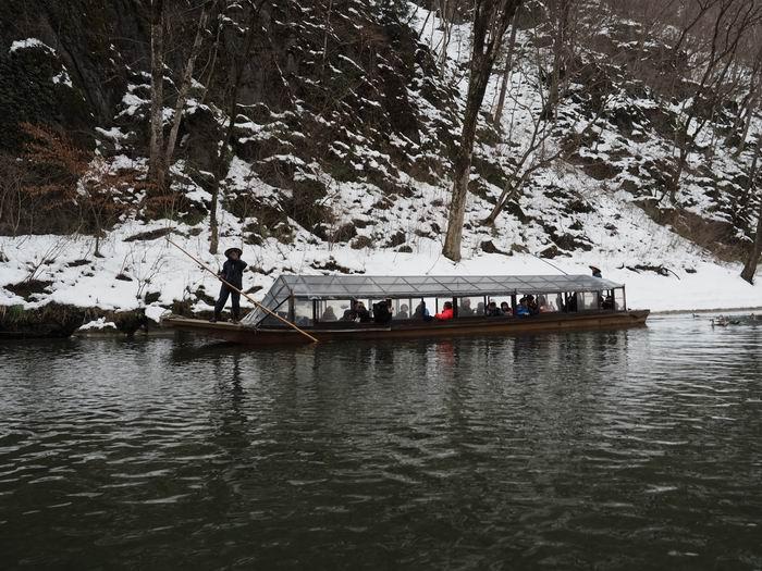 猊鼻渓の舟下りの写真1