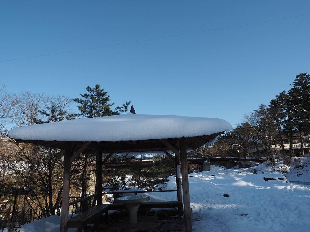 厳美渓の冬の景色の写真6