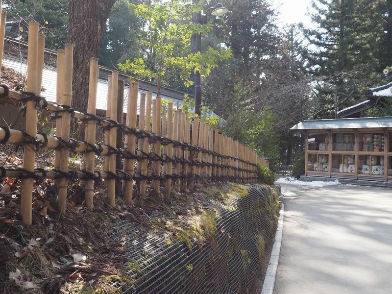大崎八幡宮の参道の風景