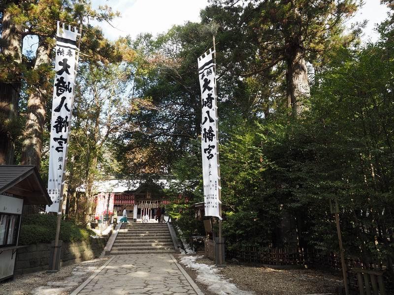 大崎八幡宮のbバス停側からの参道終着付近