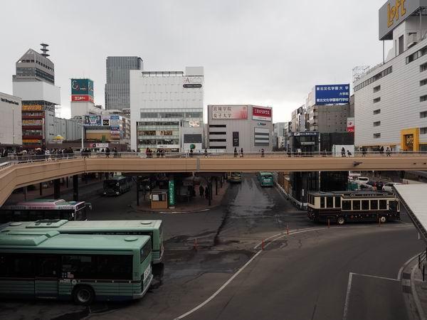 仙台駅西口のバスプール