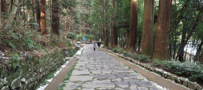 瑞宝殿への参道