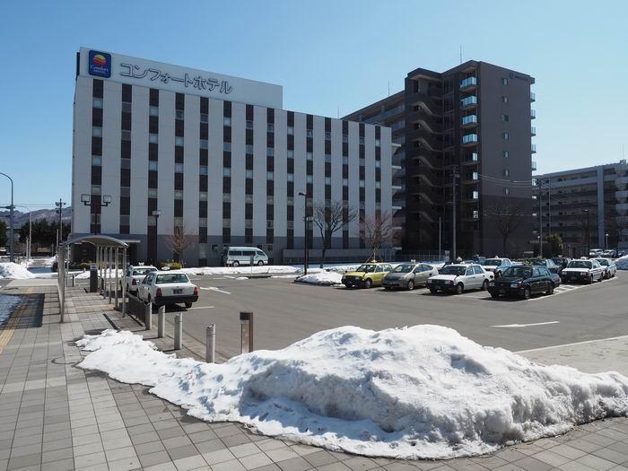 北上駅東口コンフォートホテル北上の全景