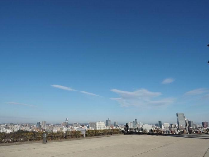 青葉城公園から見た仙台市内の風景写真