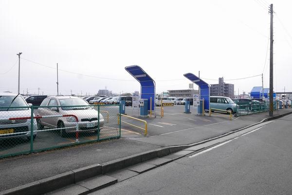 古川駅駐車場パラカの入り口ゲート