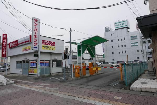 古川駅サンパーキングの風景