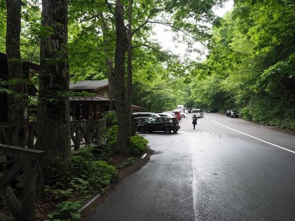 石ヶ戸休み休憩場所の駐車場の写真