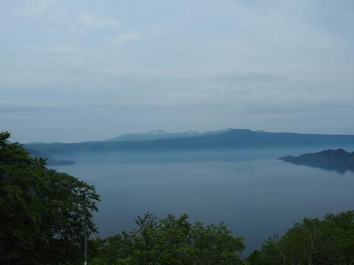 発荷峠展望台の十和田湖の眺望写真