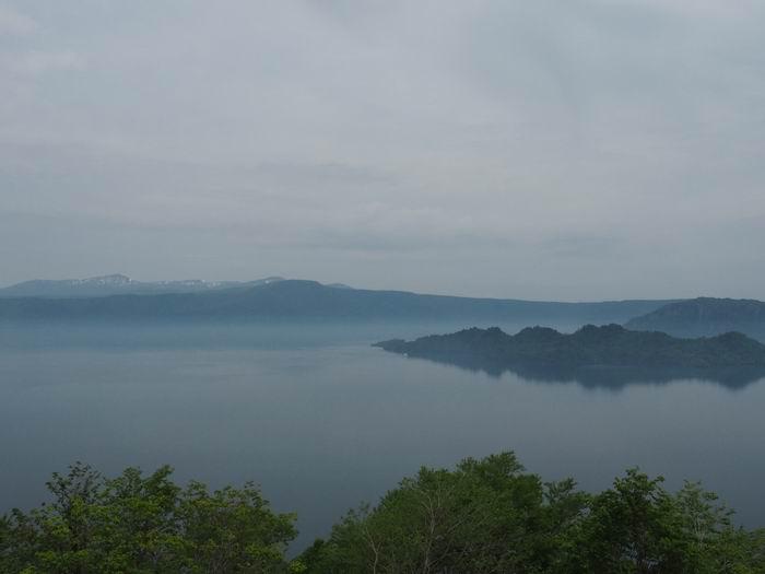発荷峠展望台の十和田湖の眺望写真3