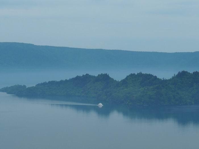 発荷峠展望台の十和田湖の眺望写真4