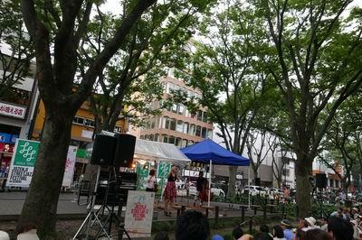 2015ジャズフェスの定禅寺通り風景