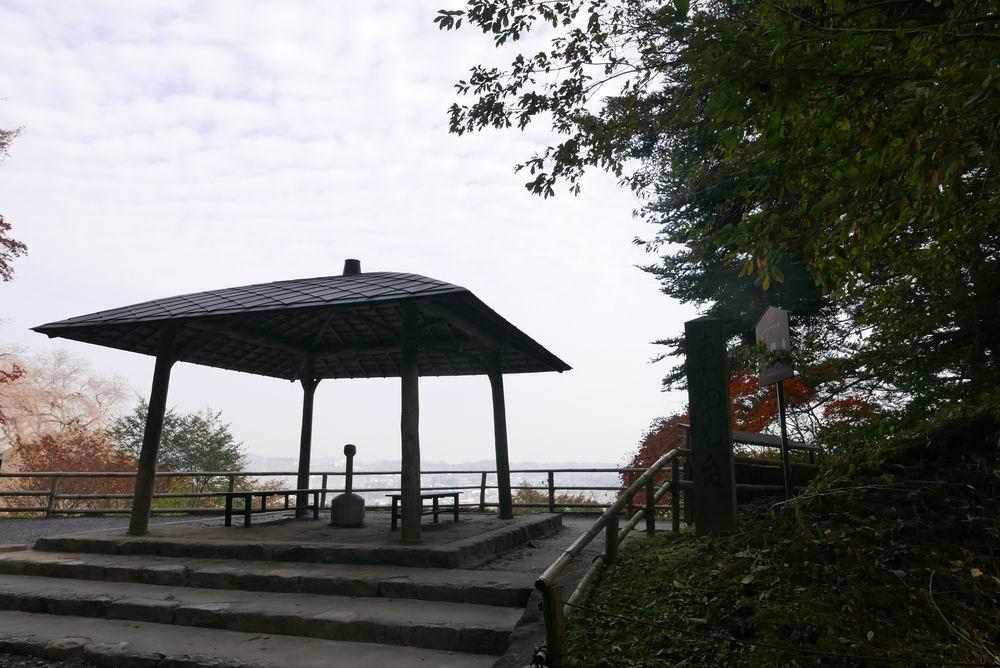 中尊寺の休み処の風景