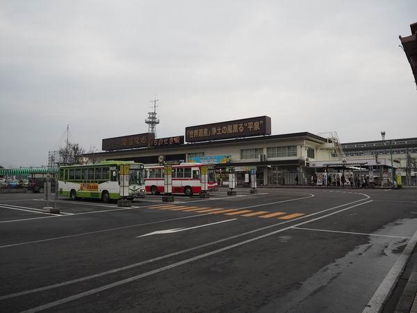 一ノ関駅のバス乗り場