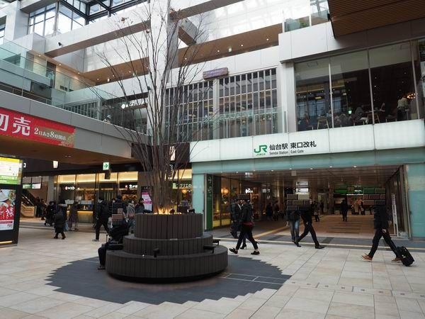 仙台駅の東口改札の風景