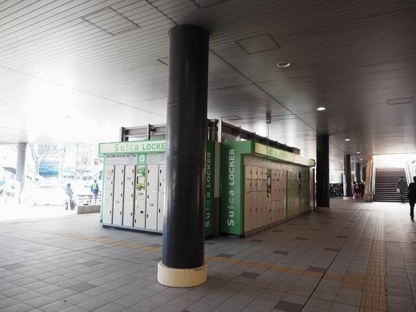 仙台駅一階のコインロッカーの置き場の風景