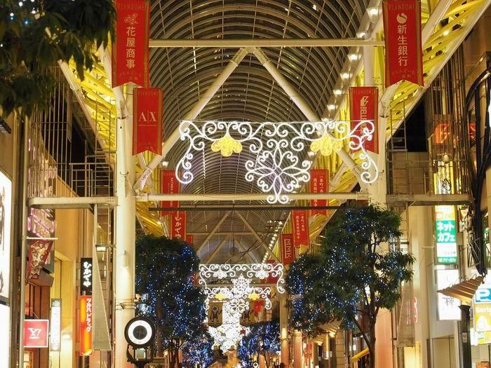 仙台一番町のアーケード街の仙台光のページェント
