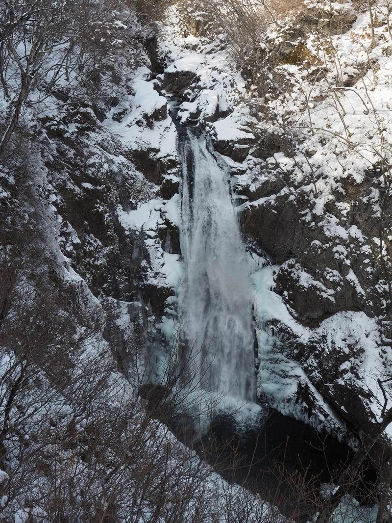 冬の秋保大滝の風景写真