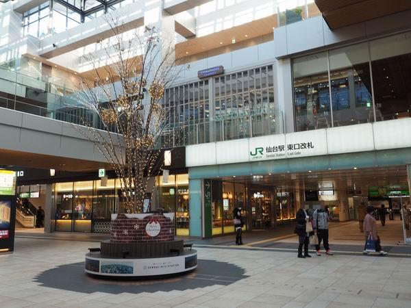 仙台駅東西通路の新幹線東口改札前