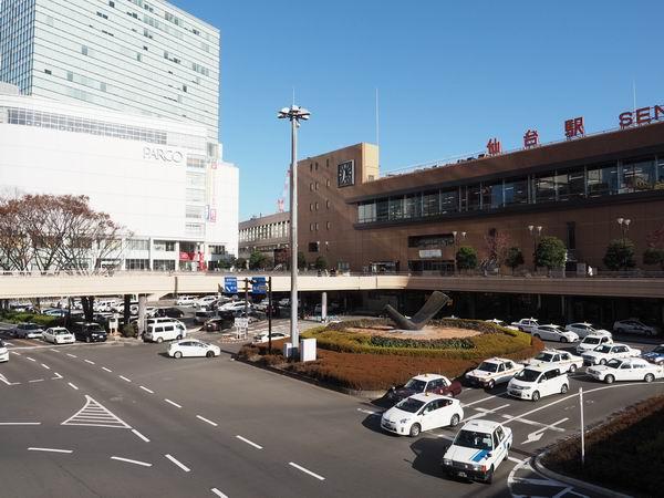 仙台駅西口時計台の位置確認写真