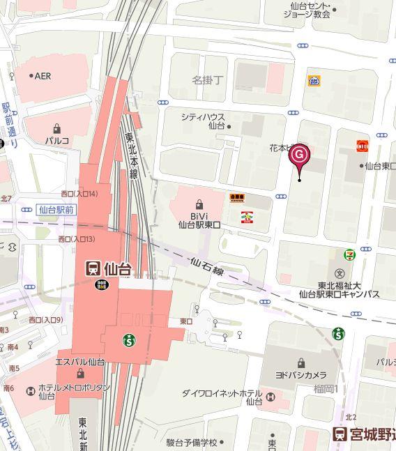 光のページェントの駐車場の地図