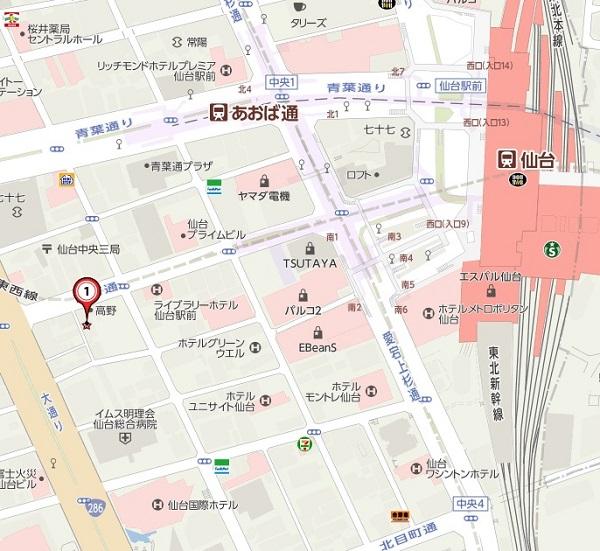 寿司結委の場所の地図