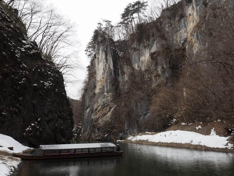 猊鼻渓の舟下り写真3