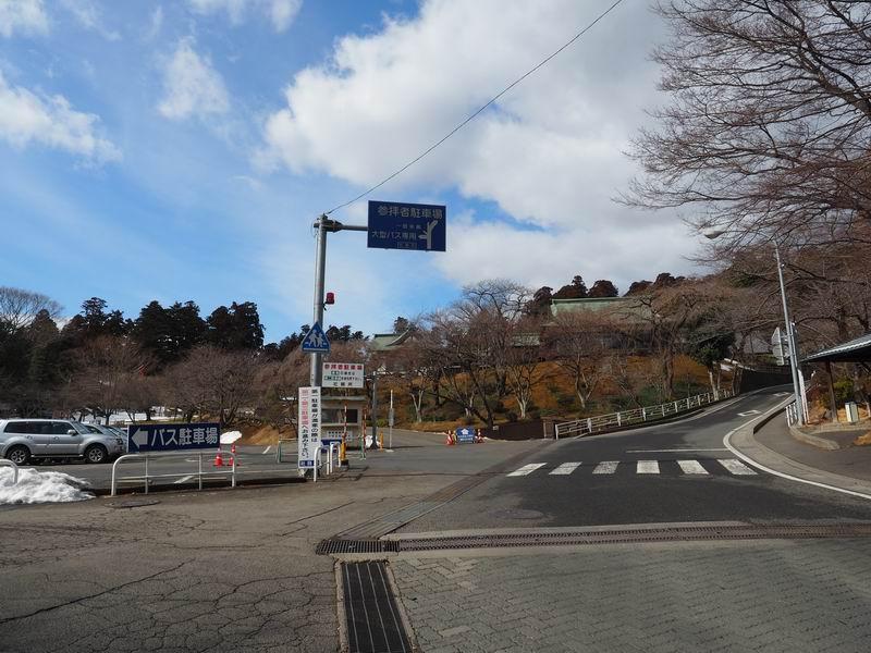 塩釜神社の駐車場の入り口の風景