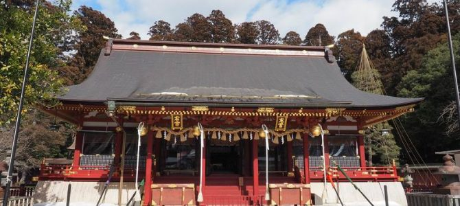塩釜神社の本殿の風景