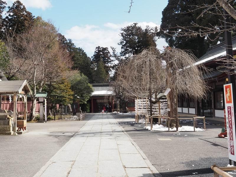 塩釜神社の境内の風景