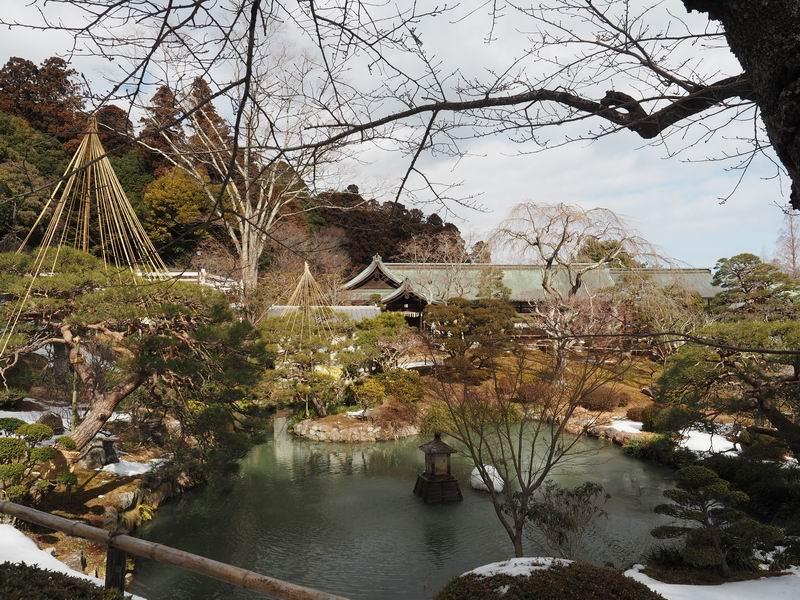 塩釜神社の庫裏の庭園風景