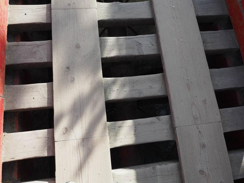 五大堂の透かし橋を上から眺めた写真