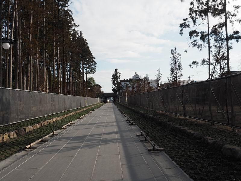 瑞巌寺の45号線を見た方向の参道