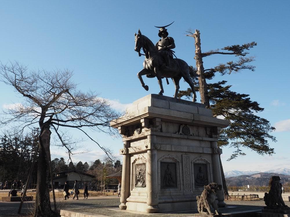 仙台城跡の伊達政宗像