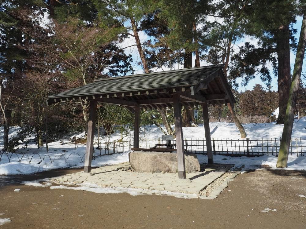 毛越寺冬の風景手洗い場