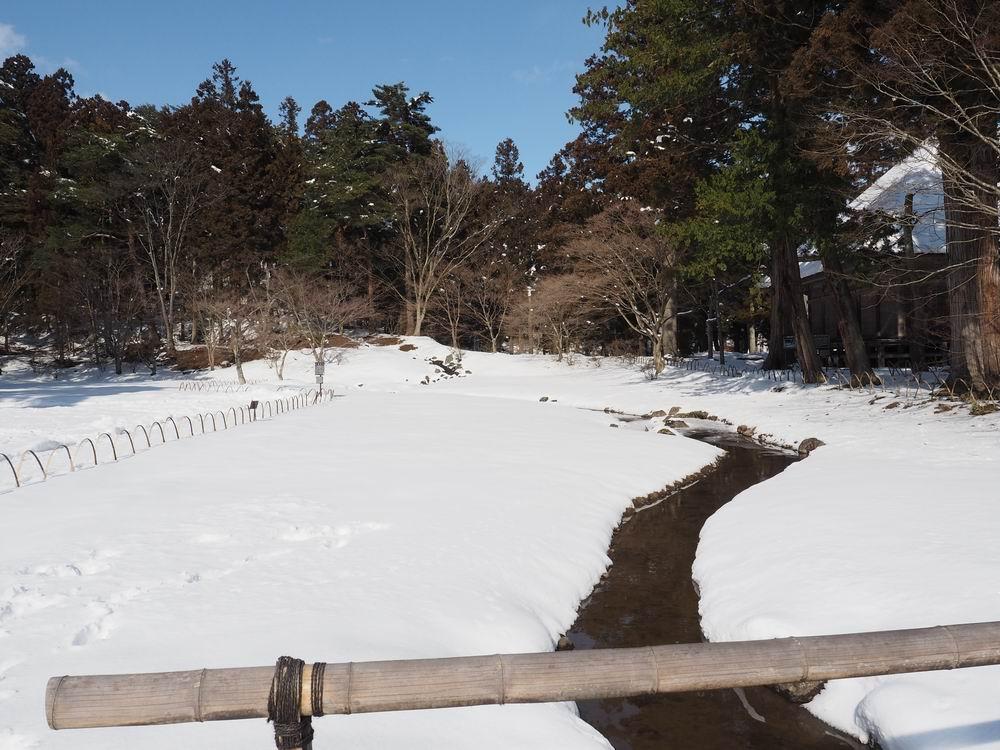 毛越寺冬の風景大泉ヶ池の風景8
