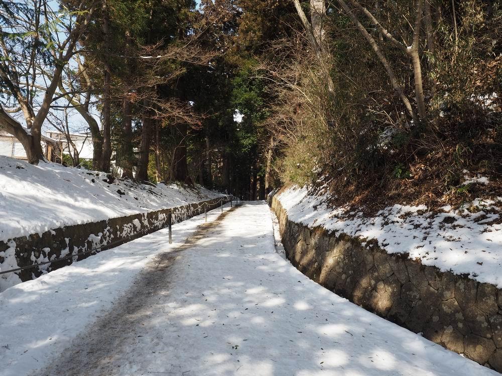 中尊寺の月見坂冬の風景1
