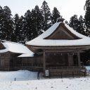 中尊寺冬の野外能楽堂
