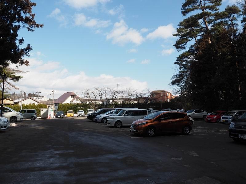 大崎八幡宮駐車場の風景写真